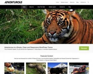 Adventurous : Eine Responsive WordPress Internetseite erhalten Sie bei uns bereits ab 1400 €
