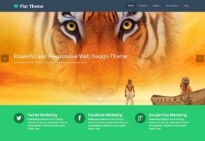 Flat-Theme : Eine Responsive WordPress Internetseite erhalten Sie bei uns bereits ab 1400 €