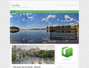 Travelify : Eine Responsive WordPress Internetseite erhalten Sie bei uns bereits ab 1400 €