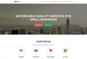 Zerif-Lite : Eine Responsive WordPress Internetseite erhalten Sie bei uns bereits ab 1400 €